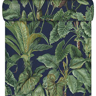 Tapeta Paradisio Erismann Tapety Na Sciane W Atrakcyjnej Cenie W Sklepach Leroy Merlin Jungle Wallpaper Leaf Wallpaper Blue Wallpapers
