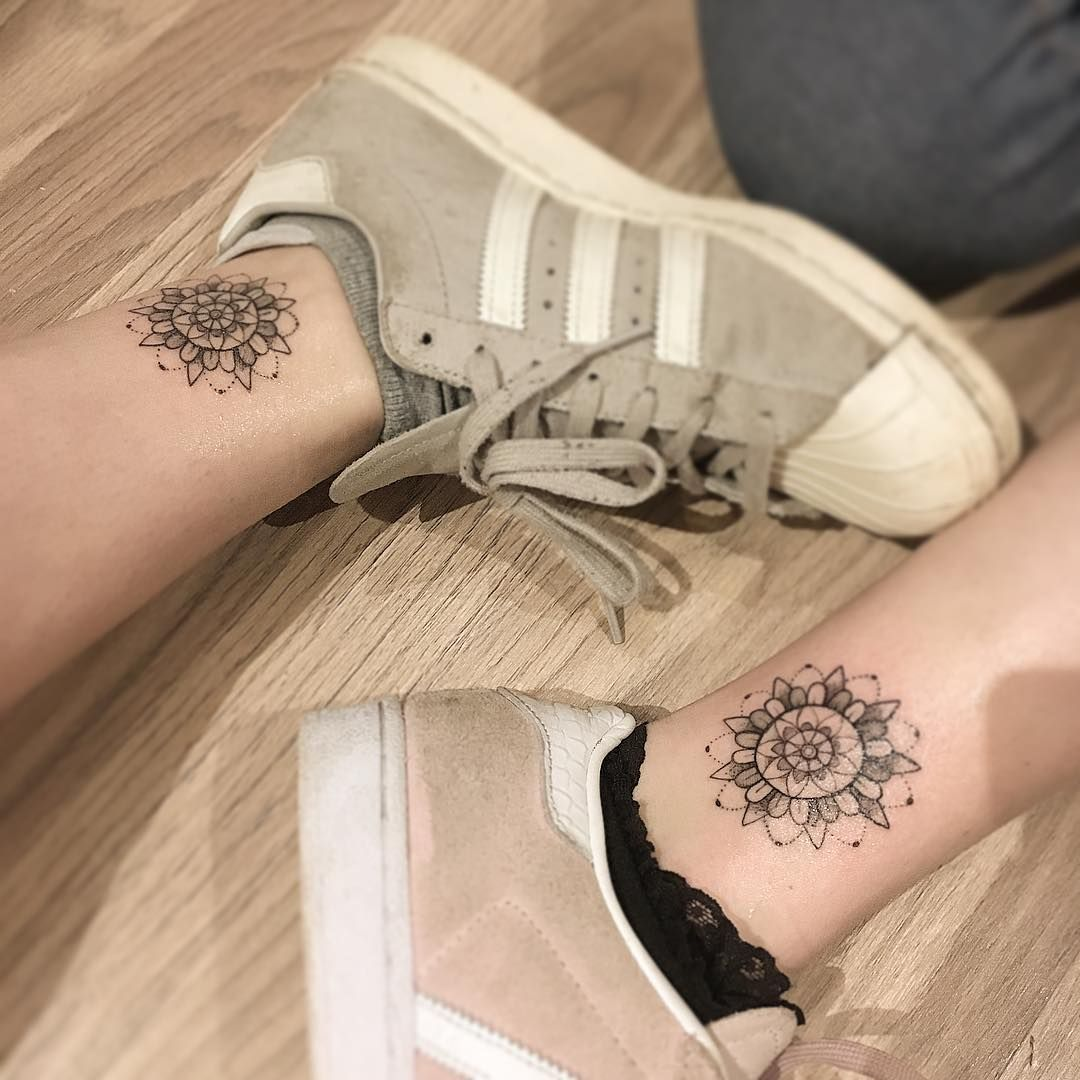 Little matching mandalas thank you tatt tattoo