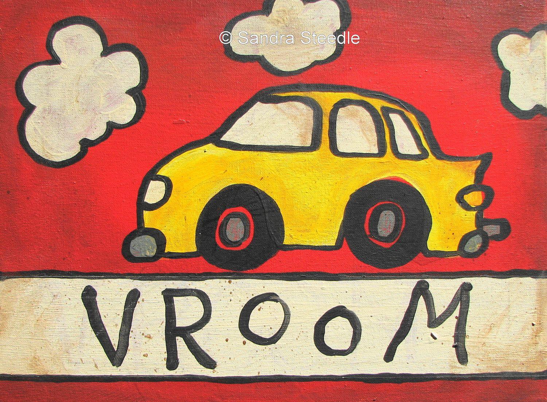 FUN CAR PRINT, Children, Art, Children Decor, nursery decor ...