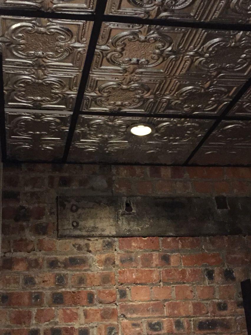 Ceiling tiles brick wall dream home pinterest ceiling tiles ceiling tiles brick wall dailygadgetfo Gallery