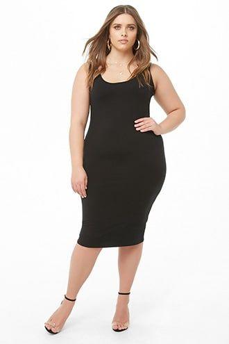 27525598ef97d3 Plus Size Square-Neck Tank Dress