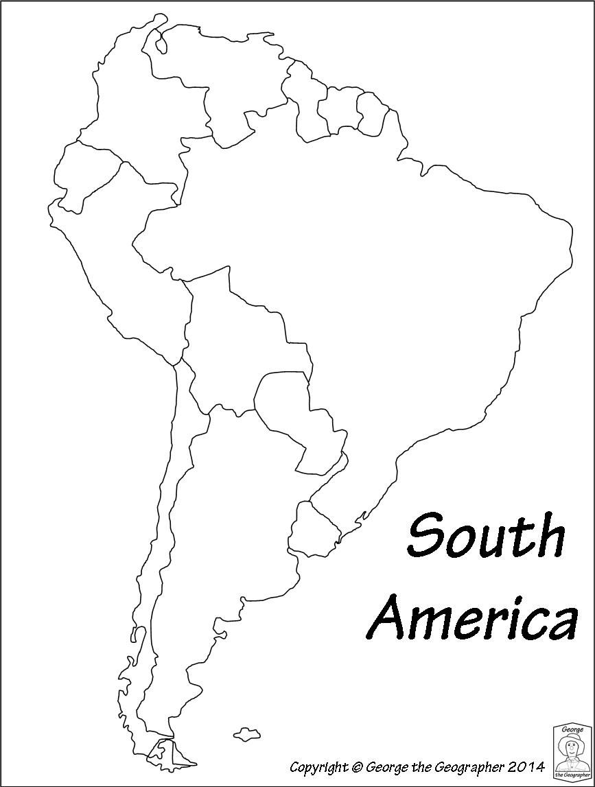 hight resolution of Latin America Printable Blank Map South Brazil Maps Of Within And    Continents and oceans