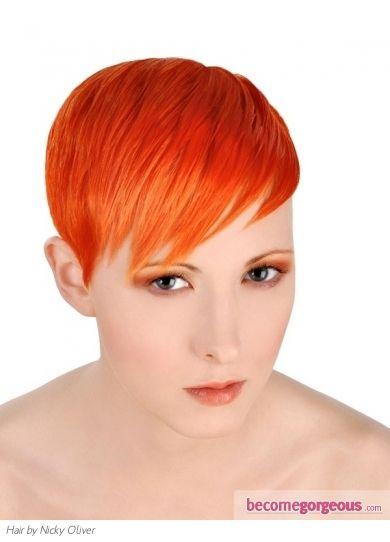 Orange Pixie Pixie Hairstyles Red Hair Inspiration Punk Hair
