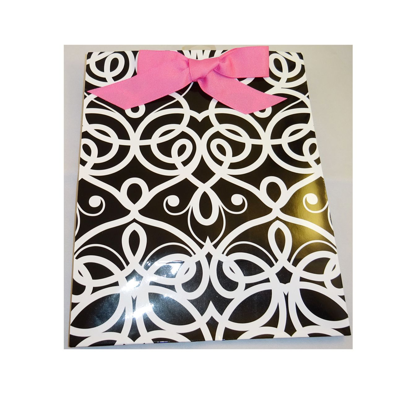 The Crabby Nook - Wholesale Lot 6 Hallmark Black White w Pink Bow Handle Gift Bag, $9.00 (http://www.thecrabbynook.com/wholesale-lot-6-hallmark-black-white-w-pink-bow-handle-gift-bag/)