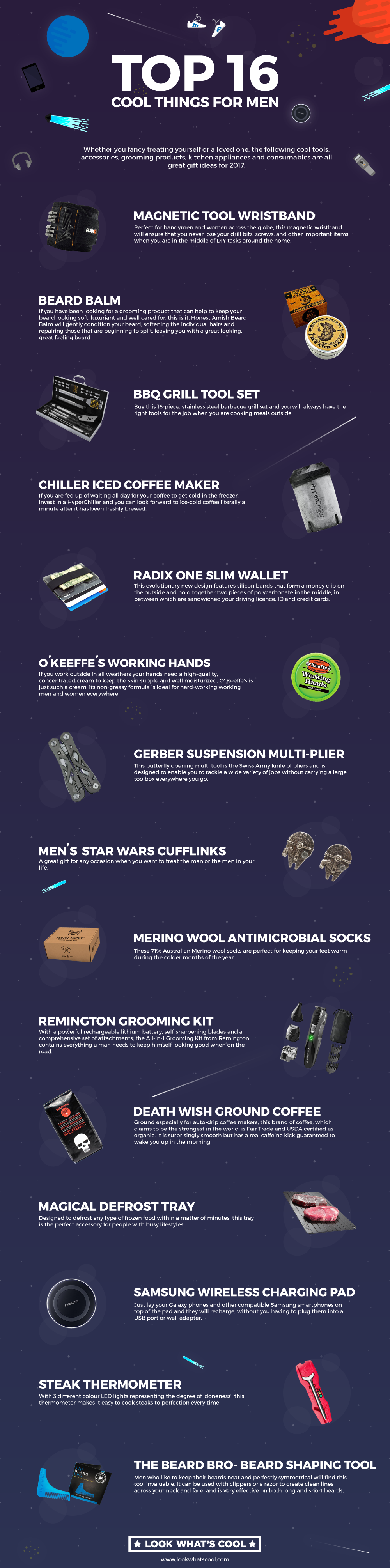 Top 16 Cool Things For Men #Infographic