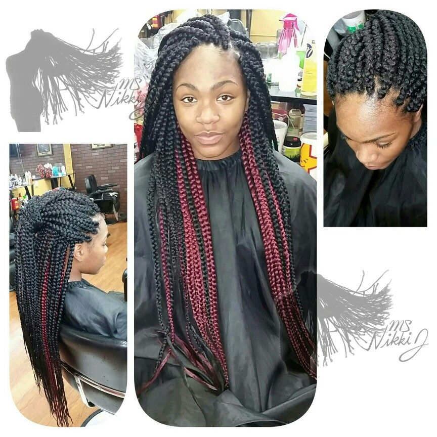 Two toned box braids Box braids hairstyles, Single