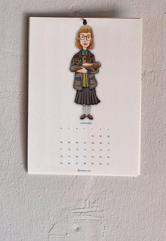 Twin Peaks 2013 Cartoon wall Calendar drawing by suPmon on Etsy