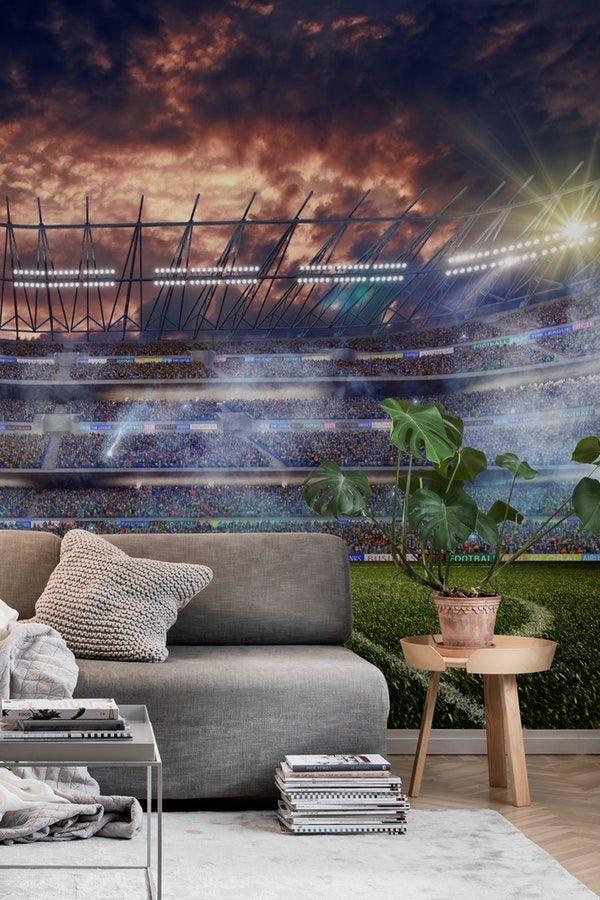Dramatic Football stadium Wall mural Sport wall murals Pinterest