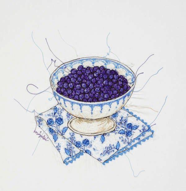 El blog de Dmc: Ilustrar con máquina coser; entrevistamos