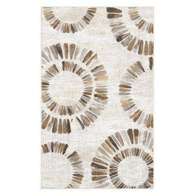 Darren Medallion Neutral 7 Ft 6 In X 10 Ft Area Rug Area Rugs
