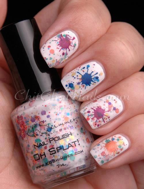 Abstract Splatter Nails