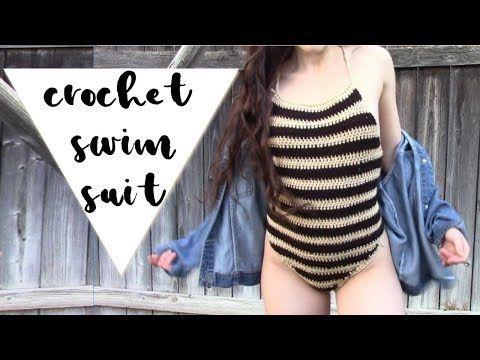 f8f8807d85 DIY Crochet One Piece Swimsuit // Crochet Swimwear - YouTube ...