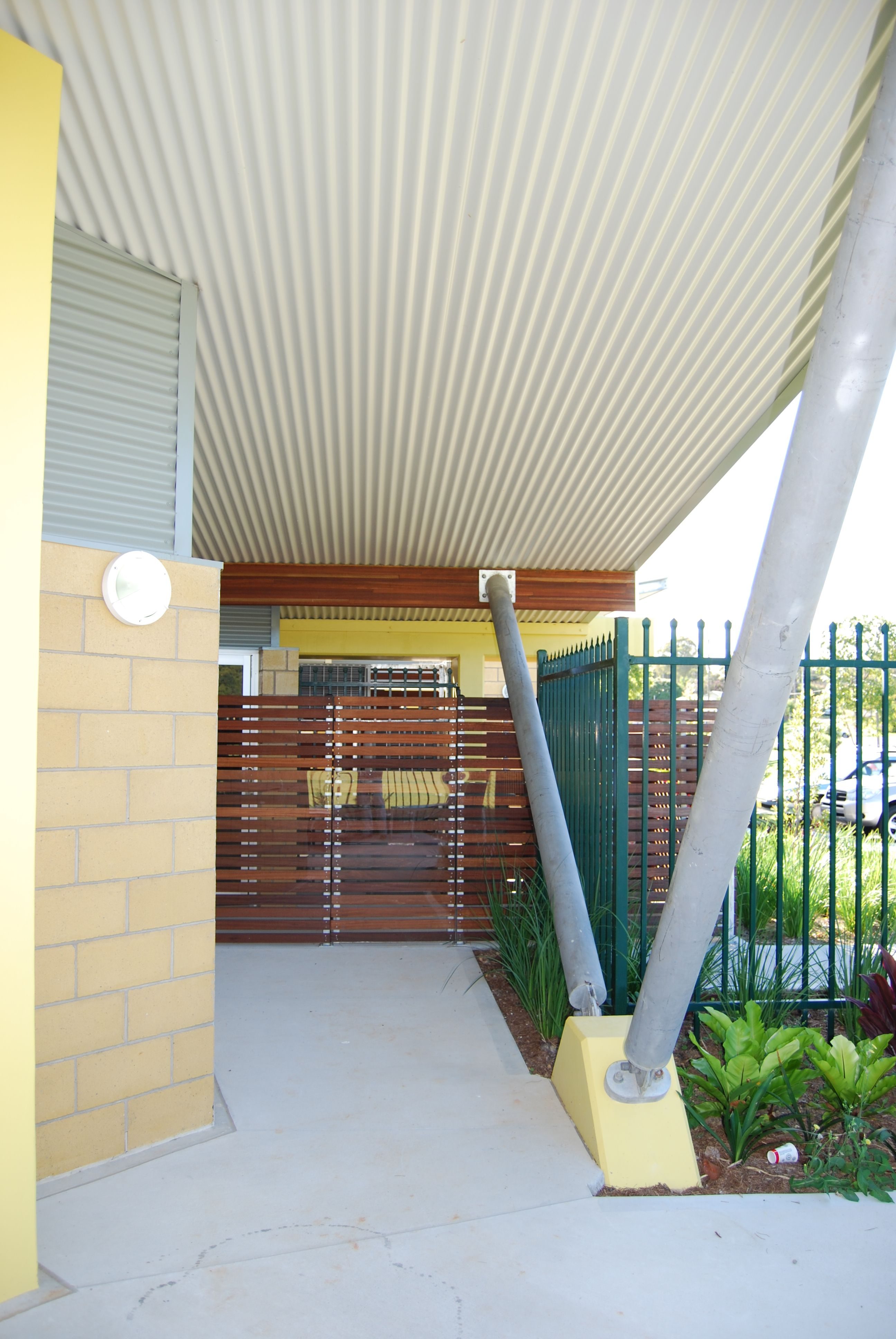 Entrance To Child Care Facility Showing Currogated Detail