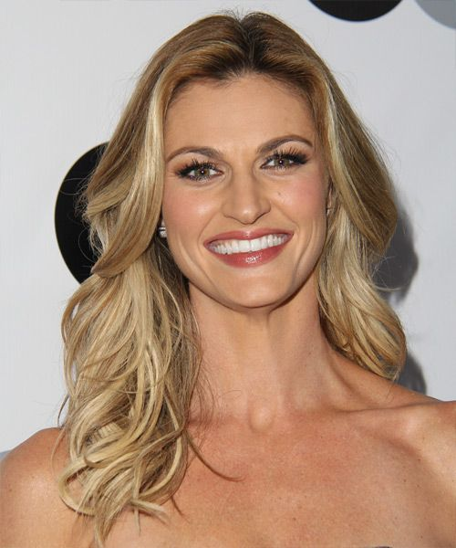 Erin Andrews Hairstyle - Casual Long Straight. Click on the image to try on this hairstyle and view styling steps!
