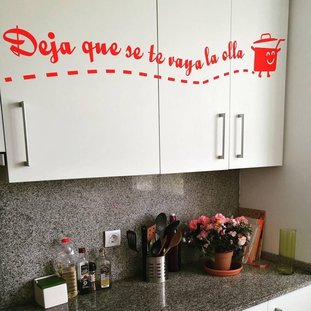 Vinilo decorativo para los muebles de la cocina con un divertida ...
