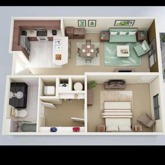 House floor plans bedroom apartment plan also best one floorplans images tiny rh pinterest