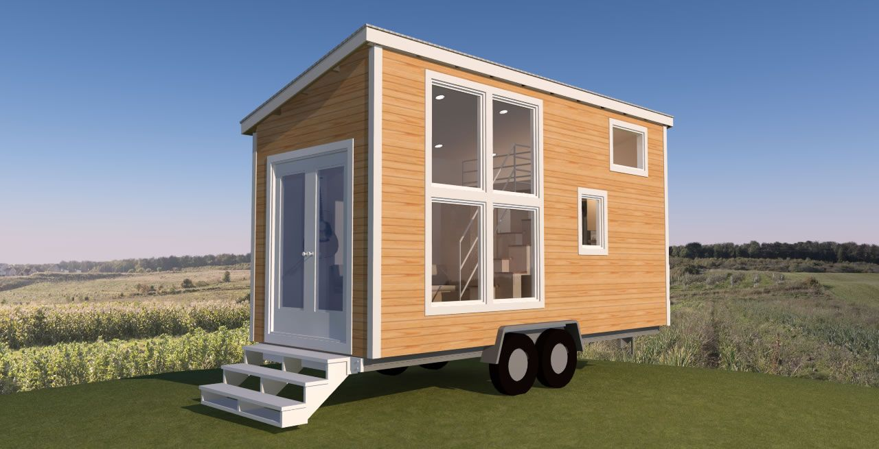 Pictured here is just one way you could finish the Navarro 20 – my latest tiny house design. Inside I show an alternating Step Tansu Staircase that leads up to the sleeping loft. The stairs provide a lot of flexible storage space themselves, but even more storage cabinets flank the full size refrigerator. As an …
