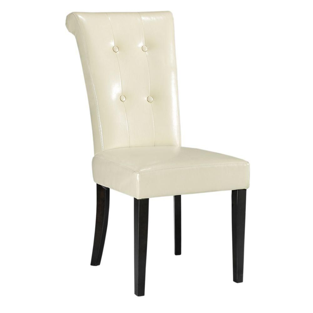 Home Decorators Collection Taylor Cream Bonded Leather ...