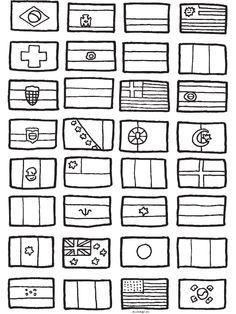 kleurplaat vlaggen europa zoeken wereldbol