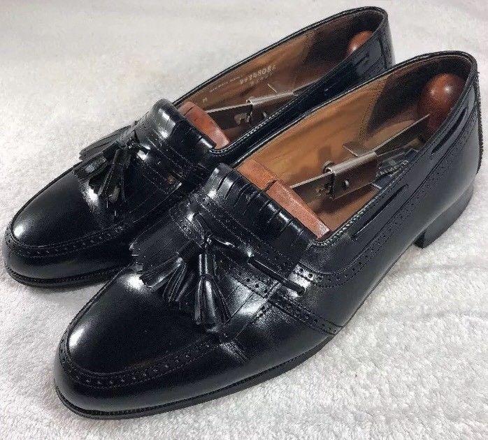 7660c83a04 Bostonian Classics Men Shoes Size 9M Black Loafer Wingtip Kilt Tassel  Leather