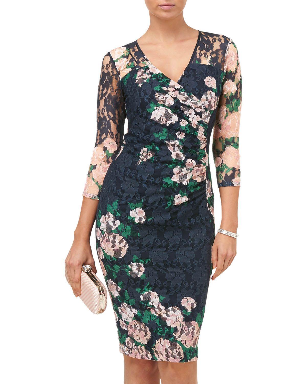 palmer print lace dress