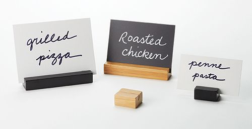 Lovely Bamboo Card Holders: Clean Lines And Contemporary Styling Puts The Emphasis  On The Cards.