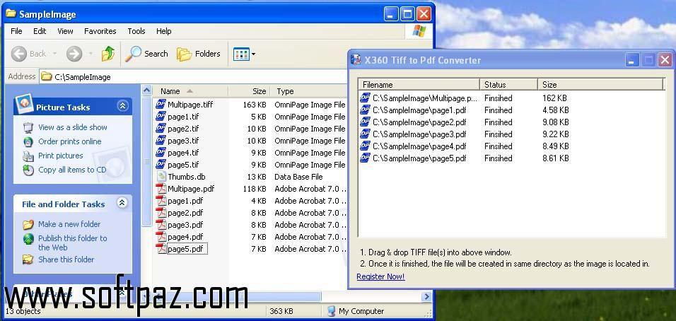 Download x360soft Tiff to Pdf Converter windows version