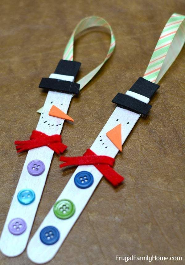 Snowman Ornaments, Cute and Easy to Make