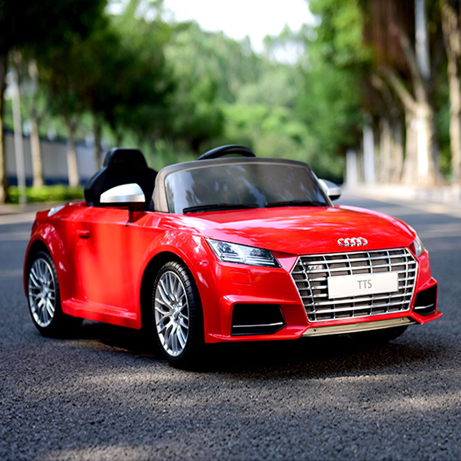 New Red Audi TTS V Kids Ride On Car Electric Powered Wheels Toy - Audi 6v car