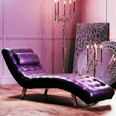 Purple Leather Chaise. | Indoor/Outdoor Rooms & Furniture/Set Ups ...
