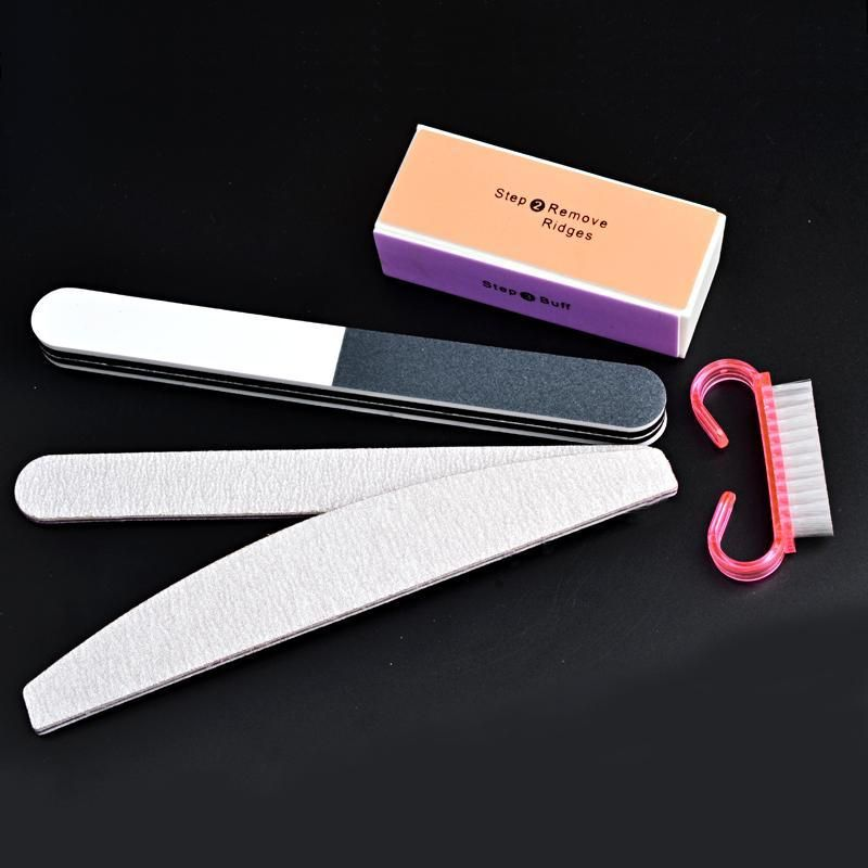 Buy 5pcs/set High Quality Nail Art Buffer File Block Brush Medicure ...