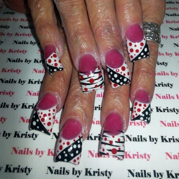 Nails #NailsbyKristy# #pureplatinumsalonandspa acrylic hand painted ...