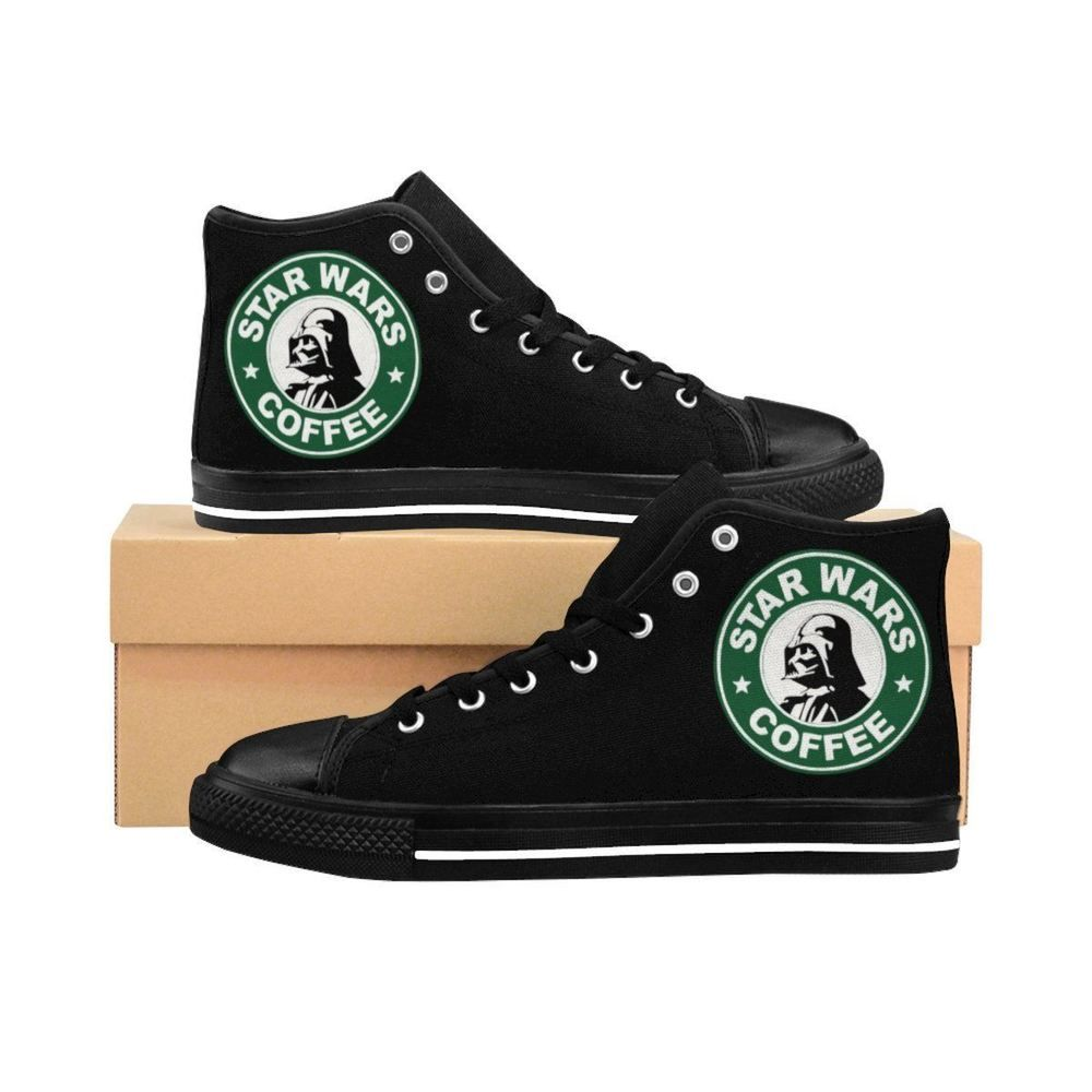 Star Wars Coffee Darth Vader Starbucks Mesh-Up Men s High-top Sneakers   Undisclosed  FashionSneakers 1612e6d84e