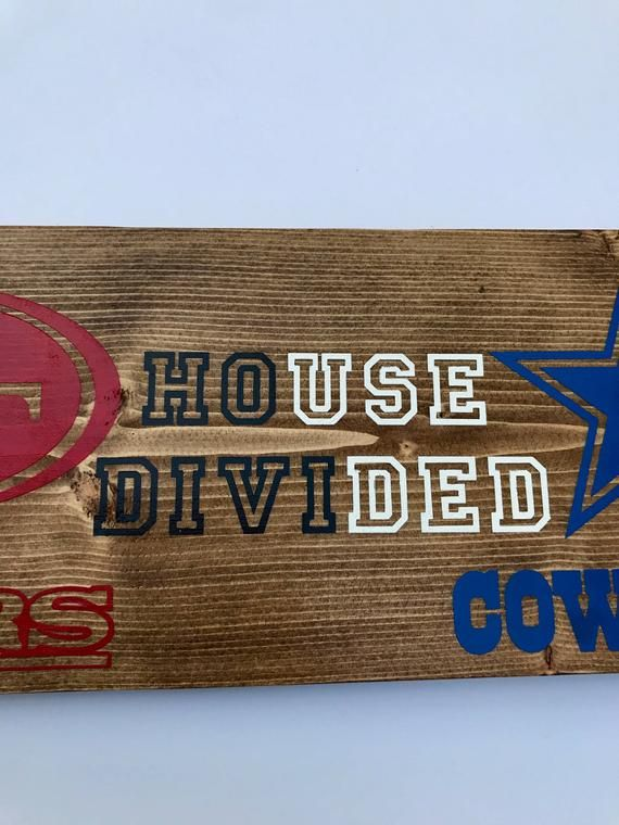 49ers Cowboys NFL House Divided Wood