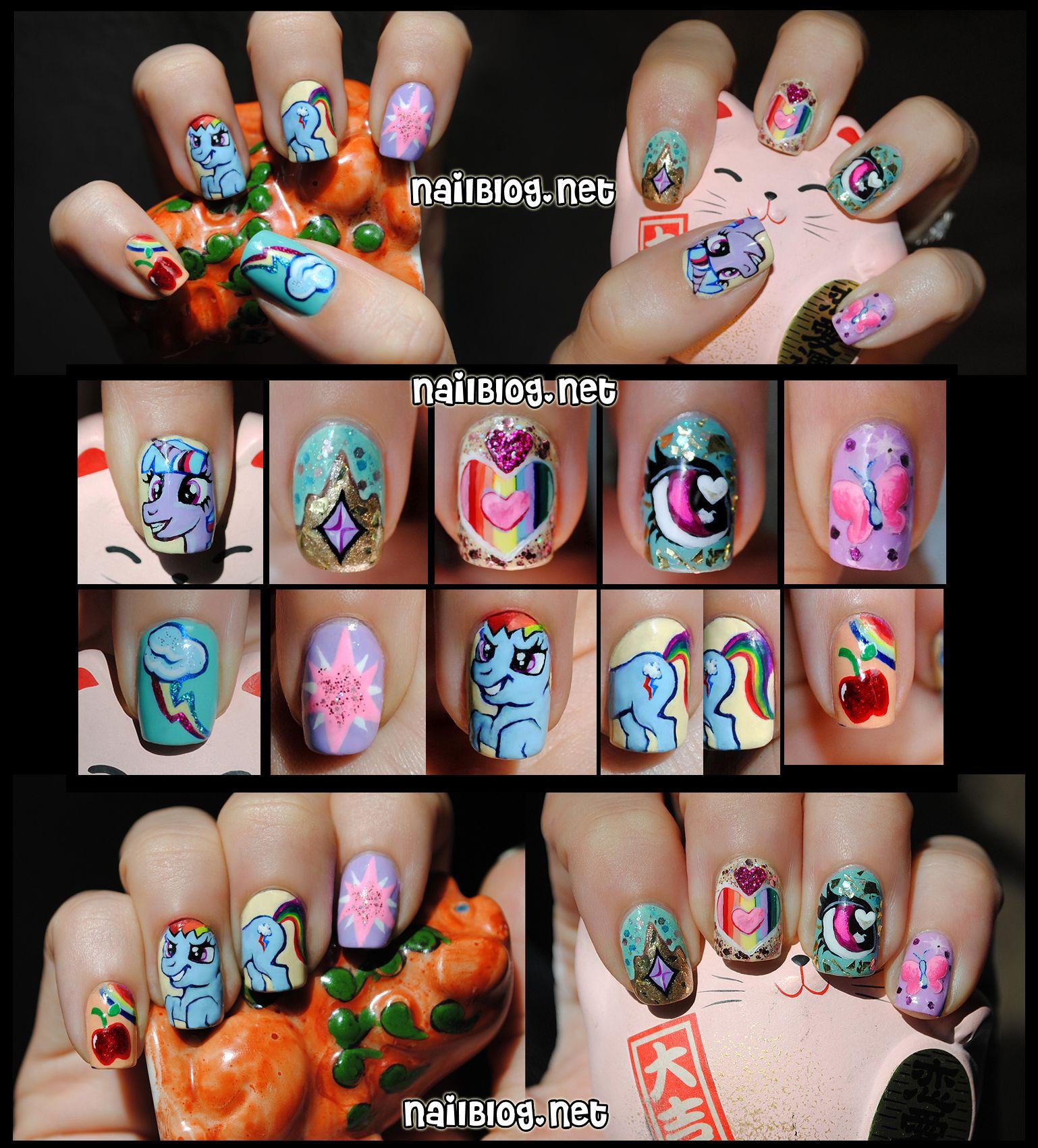 My Little Pony Nail Art Rainbow Honey Contest | Nailblog | Pinterest