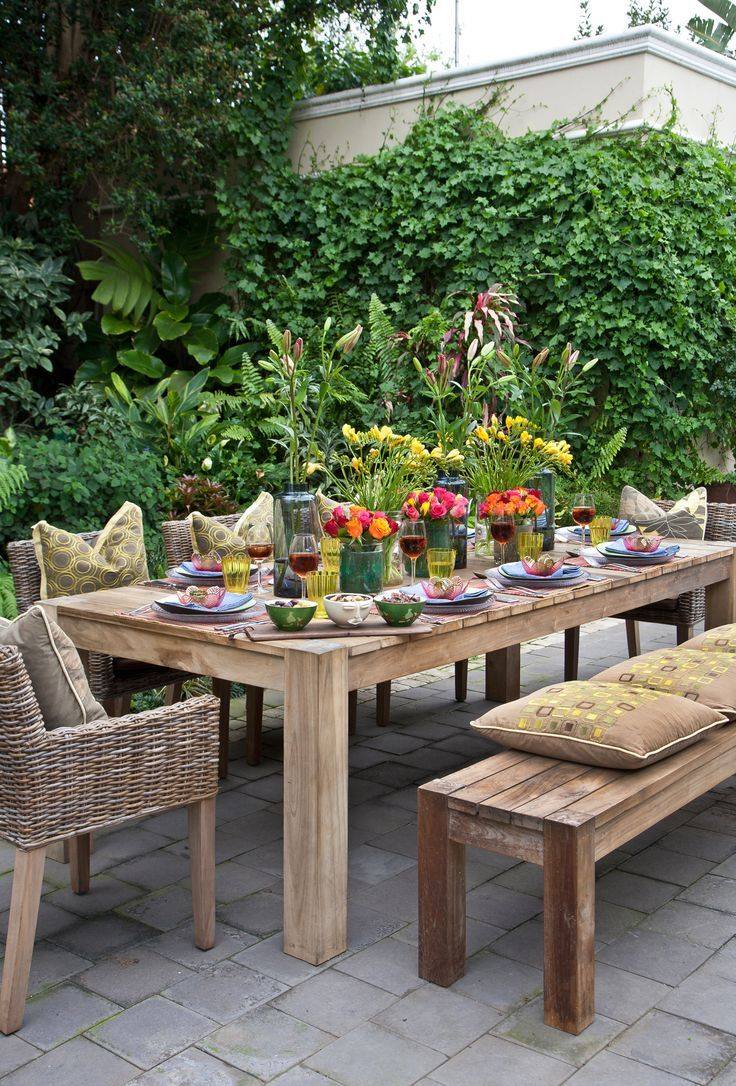 Dining outdoors