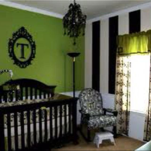 Lime Green Baby Room