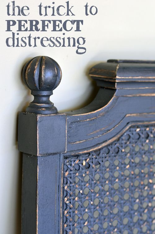 The Key to Perfect Painted Furniture Distressing