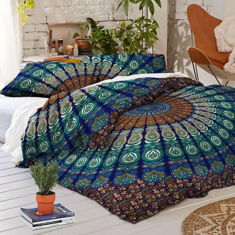 Ocean Queen Duvet Cover and Pillow Set