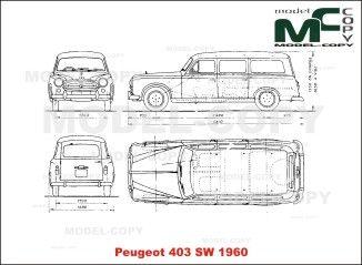 Peugeot 403 Sw 1960 Blueprints Ai Cdr Cdw Dwg Dxf Eps Gif