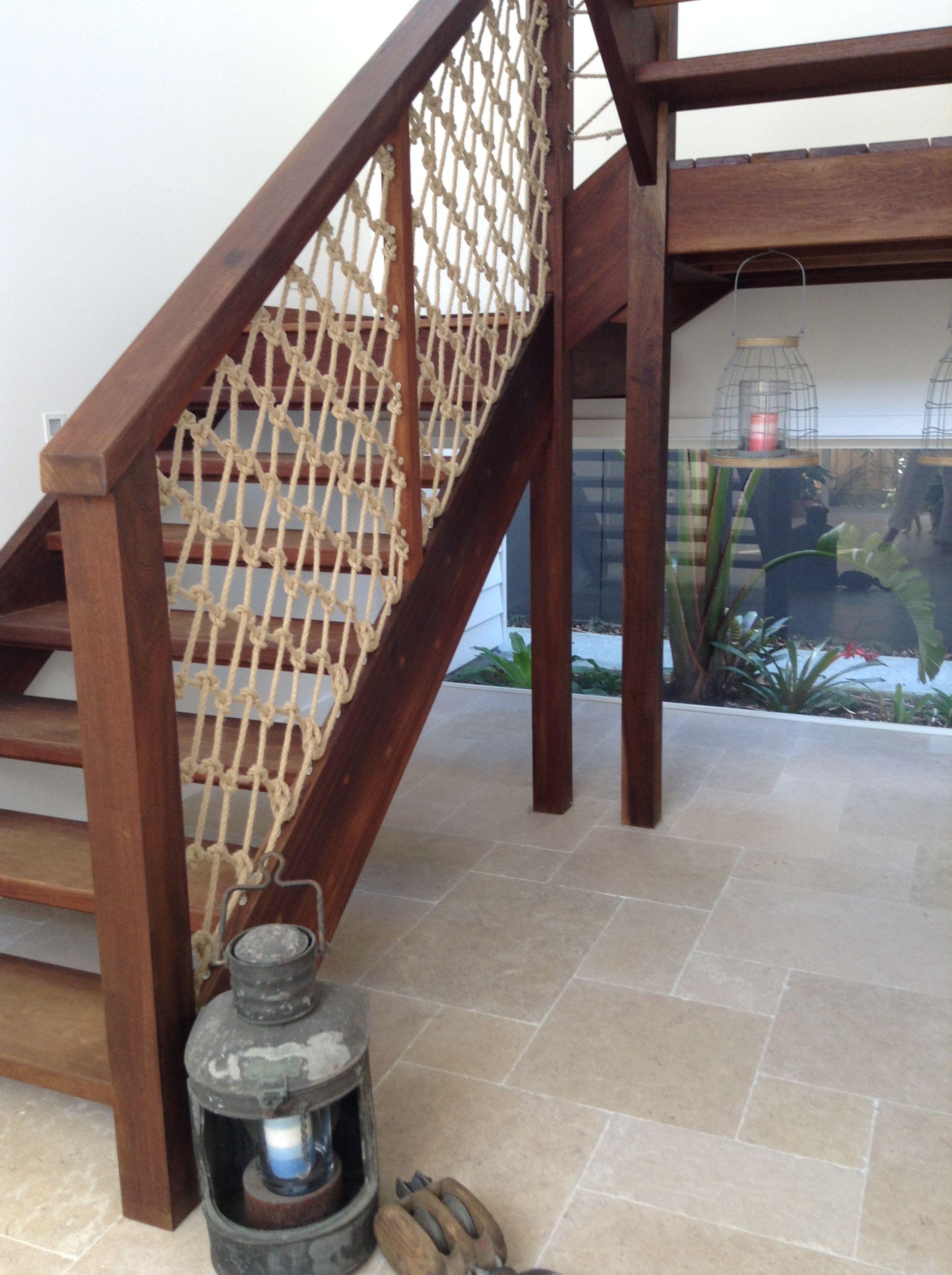 """Jack Tars Locker"" rope stair balustrade"