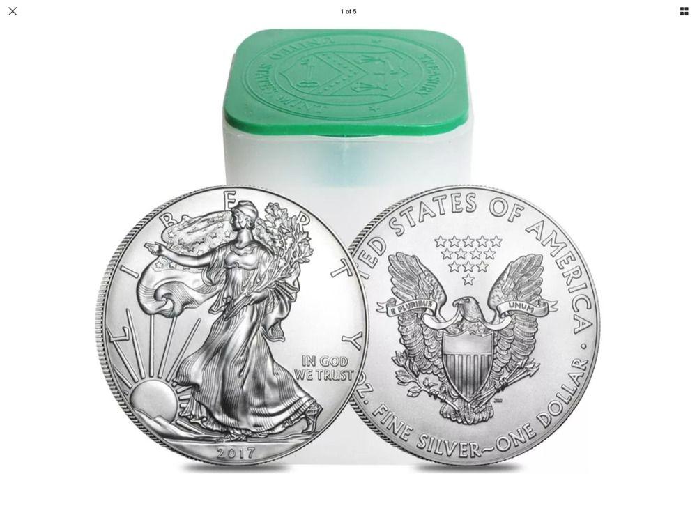 Lot Of 10 2017 1 Oz Silver American Eagle 1 Coin Bu Usmint With Images Silver Eagle Coins Eagle Coin Silver Bullion