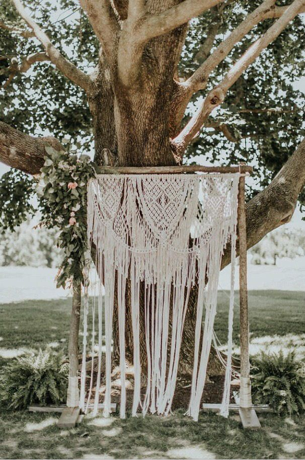 Wedding Macrame Backdrop Arch Bohemian Beautiful Boho Wedding | Etsy