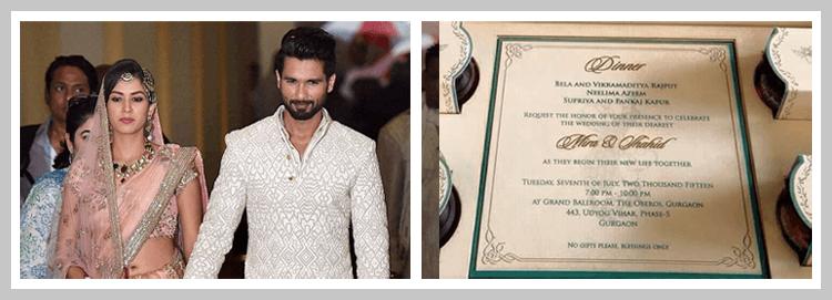 shahid kapoor wedding wedding invitations pinterest photo