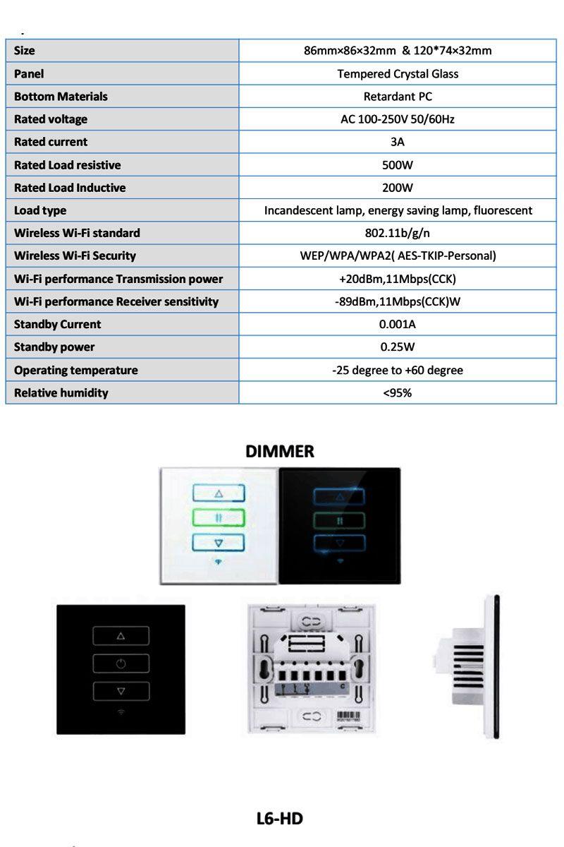 US/AU Standard Smart home AC110~250V Glass Panel Touch