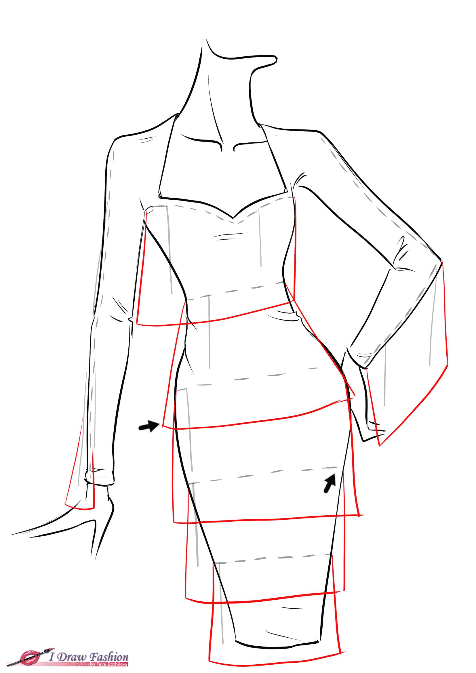 How To Draw Fringe Dress рисунки Fashion Drawing Dresses