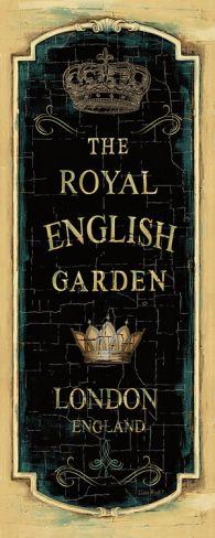 Garden View IX (Royal English) Print by Lisa Audit at Art.com