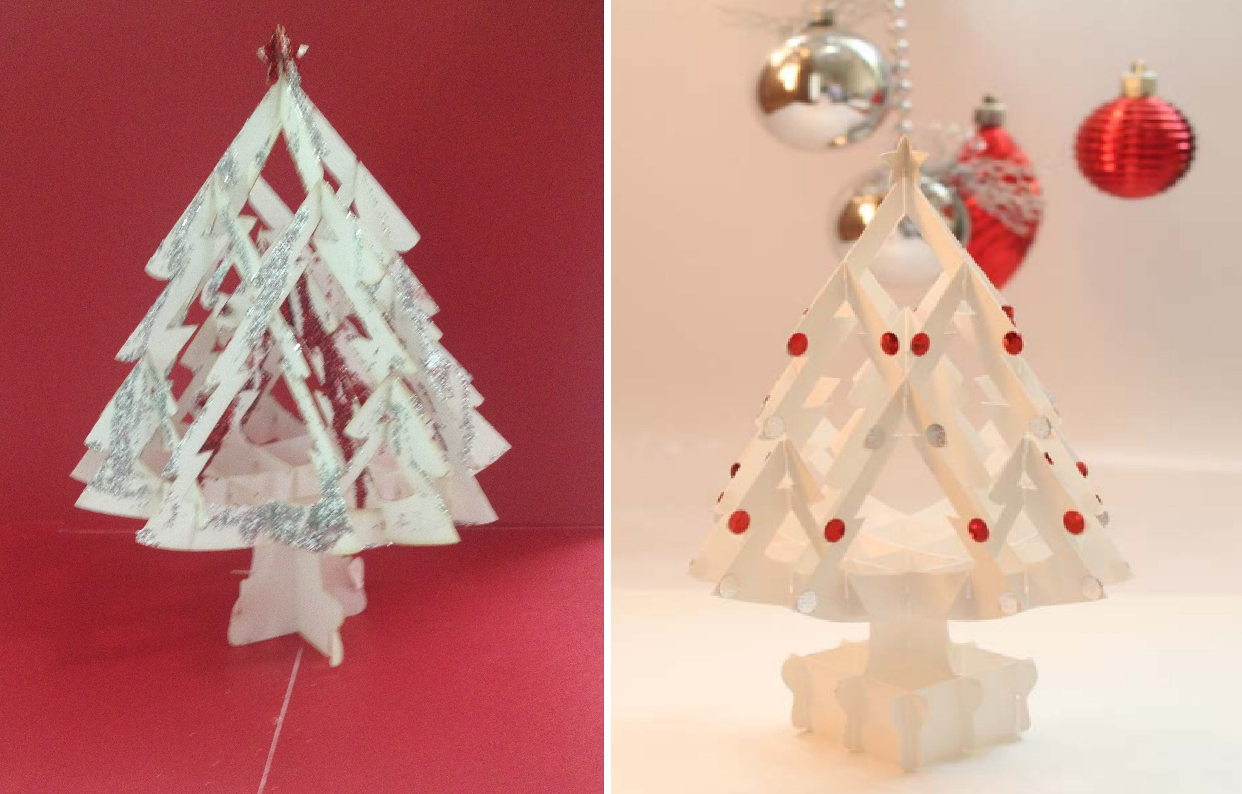 How To Make A 3D Kirigami Paper Christmas Tree - DIY Pop Up Card ...