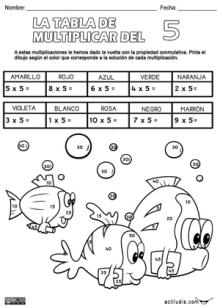 Tabla del 5p   disfrura   Pinterest   Tabla, Multiplicación y Tablas ...