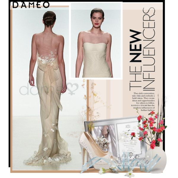 Wedding dress: http://www.dameo.de/chiffon-etui-strand-applikation ...